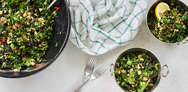 Warm Salad of Spiced Kale