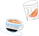 Cafe Page illustrations
