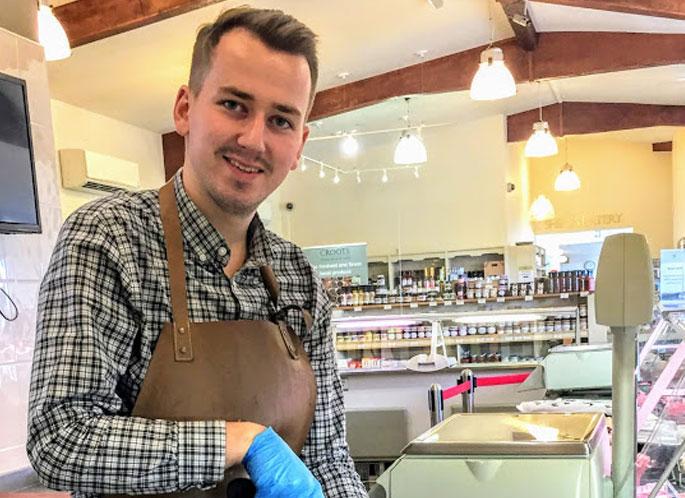 david head butcher at croots farm shop