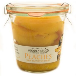 Peaches with Brandy In Syrup